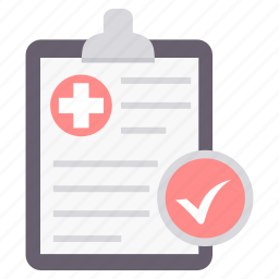 care, clipboard, medical, plus, supervision, tick, tickmark icon