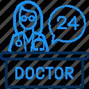 care, doctor, female, health, hospital, medical, twenty four icon