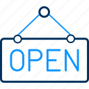 board, care, health, hospital, medical, open, sign icon