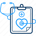 care, doctor, health, hospital, medical, report, stethoscope icon