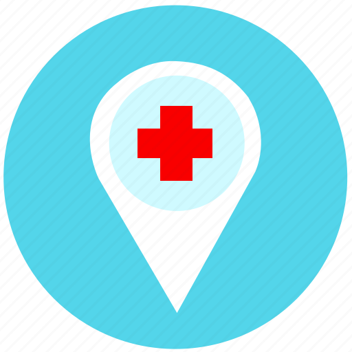 doctor, gps, hospital, location, map, navigation, pointer icon