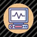 ecg, ecg monitor, monitor icon