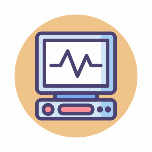 Ecg, ecg monitor, monitor icon - Download on Iconfinder