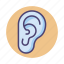 ear, hear, hearing, listen icon