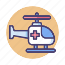 chopper, emergency chopper, helicopter, medical chopper, medical helicopter icon