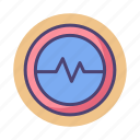 frequency, rate icon