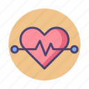 heart, heart rate, heartbeat, rate icon