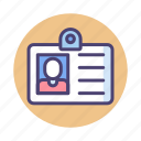 badge, card, id, identification