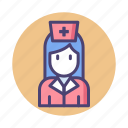 nurse, physician, staff icon