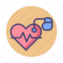 heart activity, heart rate, pacemaker icon