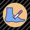 foot, foot disorder, podiatrist, podiatry icon