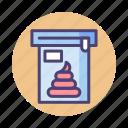 poop, poop sample, sample, stool sample icon
