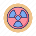 danger, dangerouse, radioactive, radioactivity icon