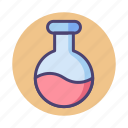 chemical, flask, round bottom flask icon