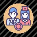 doctor, job rotation, nurse, physician, rotation, shift, shift rotation