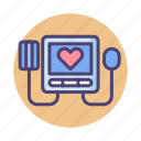 device, monitor, sphygmomanometer icon