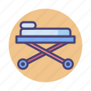 bed, emergency, stretcher icon