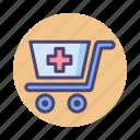 cart, medical cart, supplies, supplies cart