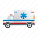 ambulance, road, transportation, vehicle icon