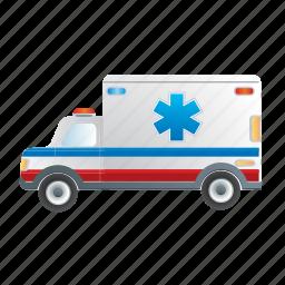 ambulance, road, transportation, vehicle icon