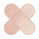 bandage, injury, plaster, platter icon