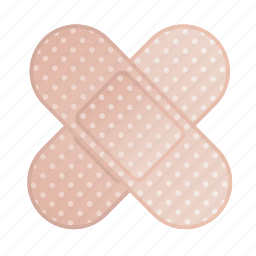 bandage, injury, plaster, platter icon