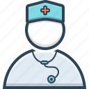 doctor, female, healthcare, hospital, nurse icon