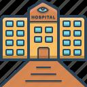 care, clinic, eye, eye hospital, hospital icon