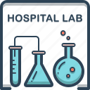 chemistry, flask, hospital, lab, laboratory, research, science icon