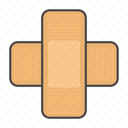 cover, hurt, medical, patch, wound icon