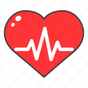 healthcare, heart, heartbeat, medical, rate icon
