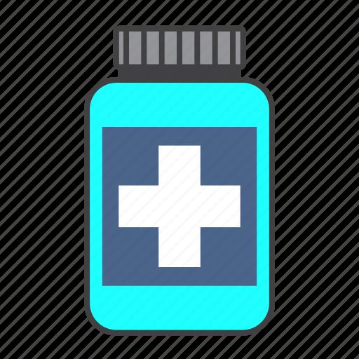 bottle, cure, drug, health, medical, medicine, pills icon