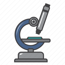 analyze, hospital, lab, medical, microscope, science icon