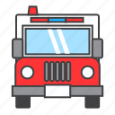 ambulance, hospital, medical, siren, transport, vehicle icon