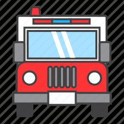 ambulance, hospital, medical, siren, transport, vehicle icon
