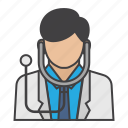 doctor, health, job, man, medical, people, stethoscope icon