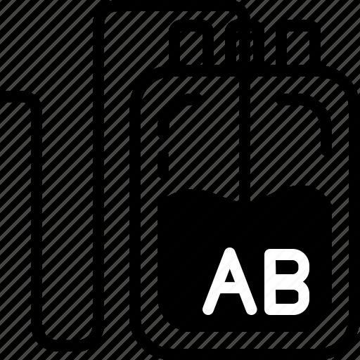 Ab Bag Blood Donation Medical Type Icon