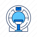 device, healthcare, machine, medical, mri, scan, technology icon