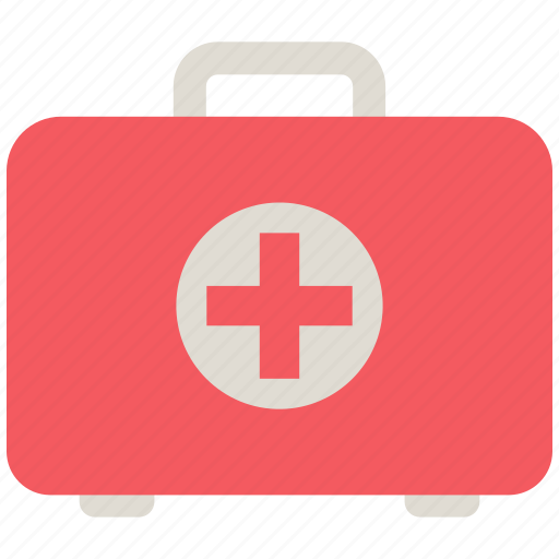 cross, kit, medical, medical kit, suitcase icon icon