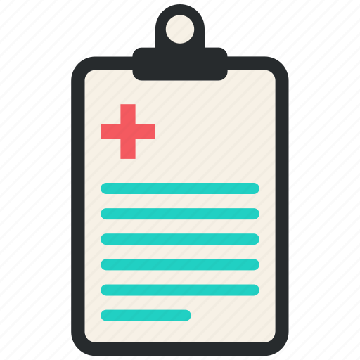clipboard, document, hospital, medical, notice, writing icon