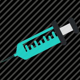 drugs, injection, medical, syringe, treatment, vaccination icon
