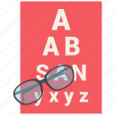 eye, eyetest, medical, medical test, test, vision icon icon