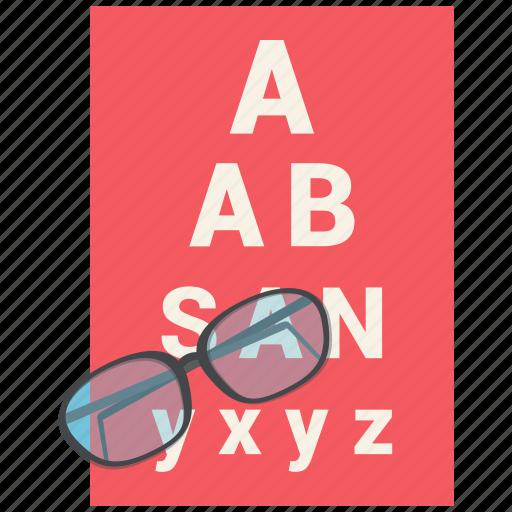 eye, eyetest, medical, medical test, test, vision icon icon