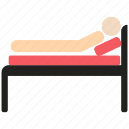 hospital bed, medical care, medical treatment, patient icon