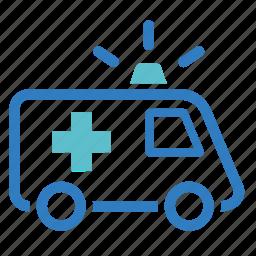 ambulance, emergency, hospital, medical, rescue, siren, urgency icon