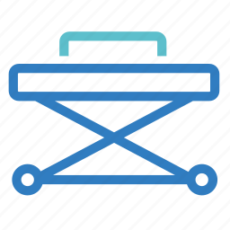 emergency, medical, resuscitation device, sickbed, stretcher, trolley icon