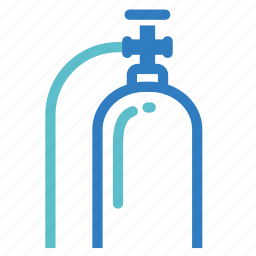 anaesthetic, anesthesiology, anesthetic, gas, medical, oxygen, tank icon