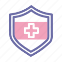 medical, emergency, doctor, paramedic, health, insurance icon
