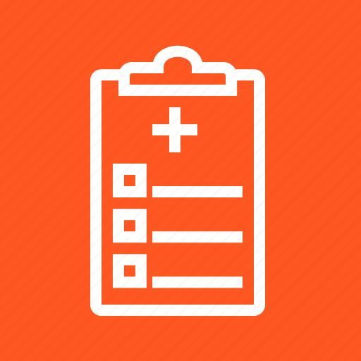 chart, medical, prescription, slip icon