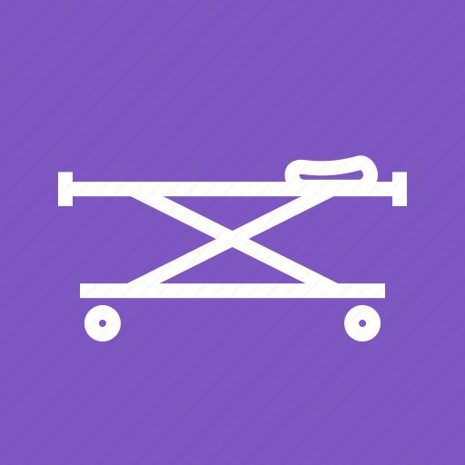 Bed, emergency, injury, stretcher icon - Download on Iconfinder
